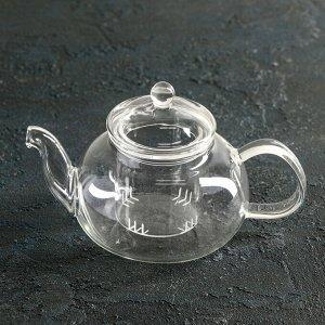 Чайник заварочный «Валенсия. », со стеклянным ситом, 400 мл