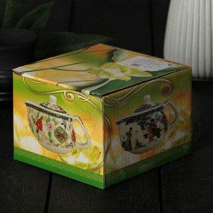 Чайник заварочный «Пейзаж», 200 мл, 15?9,5?9 см, с металлическим ситом