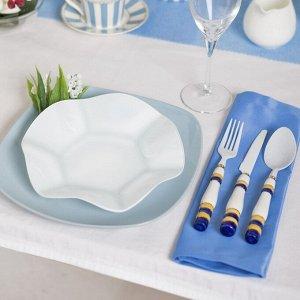 Тарелка «Медуза», d=21 см, белая