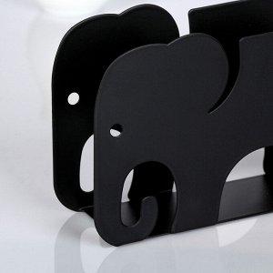 Салфетница «Слон», 14,5?4?9,5 см, цвет чёрный