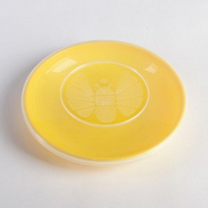 Тарелка 18 см, с герметичной крышкой, цвета МИКС