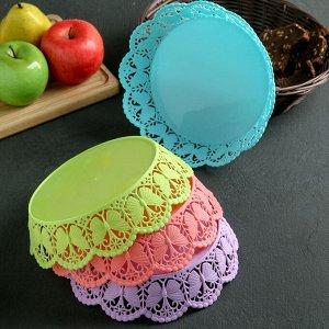 Ваза для хлеба и фруктов «Бабочки», 20 см, цвет МИКС
