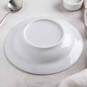 Тарелка глубокая Добрушский фарфоровый завод «Голубка», 350 мл, d=22 см, цвет белый