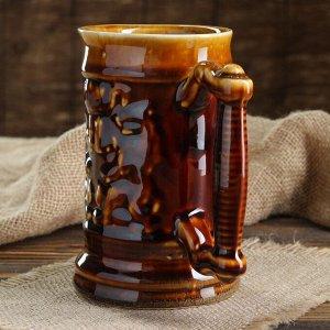 """Кружка """"Для пива"""" коричневая, 0,5 л"""