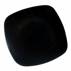 Тарелка, 20,5?20,5 см, чёрная