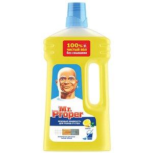 MR PROPER Мою0щая жидкость для уборки Универсал Лимон 1л