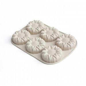 Форма для кексов CALVE, 6 ячеек, 27,5х18х2,8 см