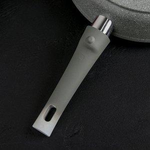 Сковорода 28 см со съёмной ручкой, антипригарное покрытие, светлый мрамор