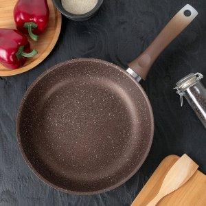 Сковорода, 26*6 см, цвет кофейный мрамор
