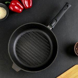Сковорода-гриль 28 см, со съёмной ручкой, чугунная крышка