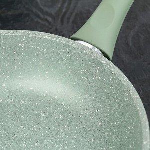 Сковорода, 24*6 см, цвет фисташковый