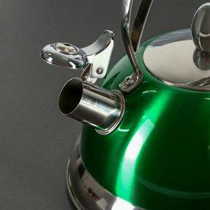 Чайник со свистком «Гросс», объём 3 л, капсулированное дно, индукция, цвет МИКС