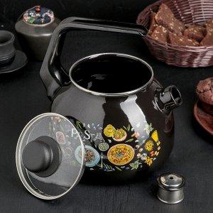 Чайник 3 л Pasta, цвет чёрный