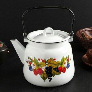 Чайник с петлёй 3,5 л, цвет белый