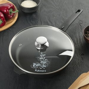Сковорода «Традиция», 26*6 см, стеклянная крышка, съёмная ручка