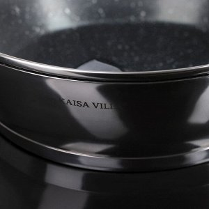 """Набор посуды """"Руно"""", 4 предмета: кастрюли 5,1/3,2 л, ковш 1,6 л, сотейник с антипригарным покрытием 3,4 л"""