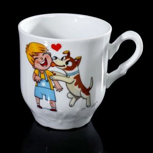 Кружка Добрушский фарфоровый завод «Мой любимый пёс», 220 мл, цвет МИКС