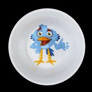 Салатник «Радужные птички», 200 мл, 11 см, рисунок МИКС