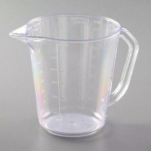 Мерная кружка Darel plastic, 1 л, цвет прозрачный