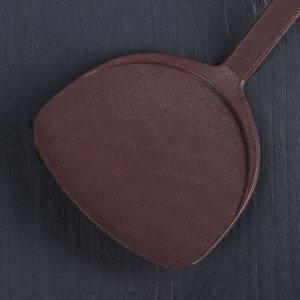 Лопатка Доляна «Шоколад», 31 см, цвет коричневый