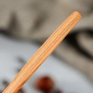 """Ложка деревянная """"Чайная"""", 11 х 2,5 см, массив черешни"""