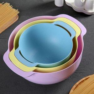 Набор для кухни Compact, 3 предмета: миска 4,5 л, дуршлаг 22 см, миска мерная 1,2 л