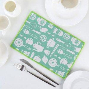 Салфетка для сушки посуды Доляна «Хозяйственный», 20?30 см, лён
