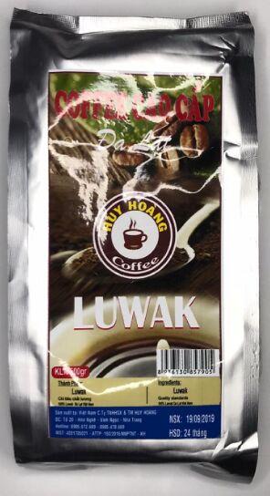 Кофе в зернах Далат лювак 500гр