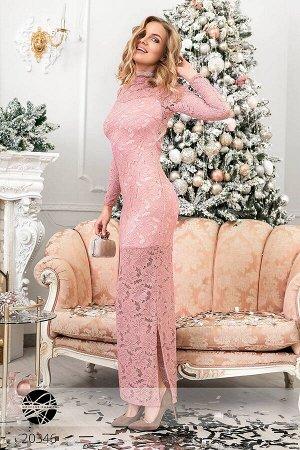 Гипюровое платье с открытой спиной