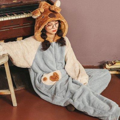 Плюшевые новинки! Теплые, мягкие пижамки, халатики, флис! — Пижамы family look — Сорочки и пижамы