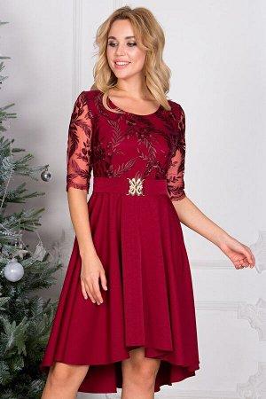 Платье Наталья цвет марсала П-90-4