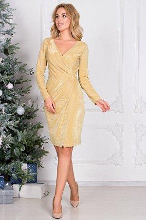 Платье Жаклин  цвет золото (П-170-3)