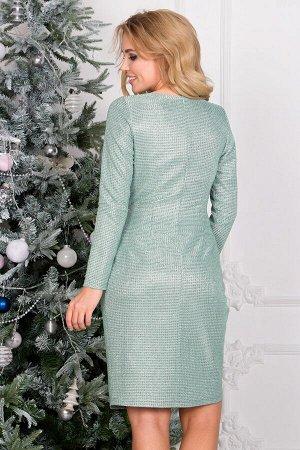 Платье Жаклин люрекс пыльно-фисташковый (П-170-5)