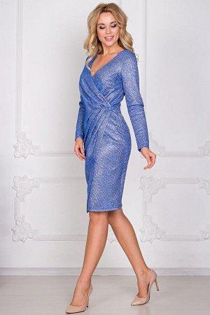 Платье Жаклин люрекс серо-голубой (П-170-4)
