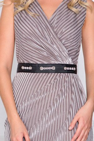 Платье Келли бархат в рубчик  П-26-9