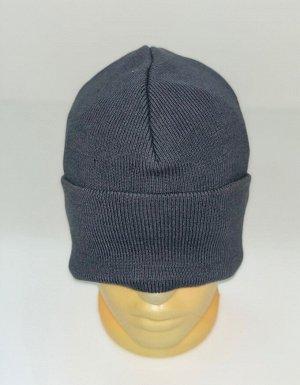 Шапка Простая серая шапка  №4239