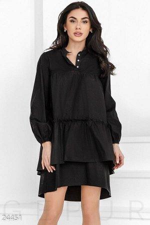 Каскадное платье-туника