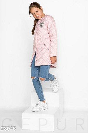 Детское стеганое пальто