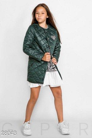 Модное стеганое пальто
