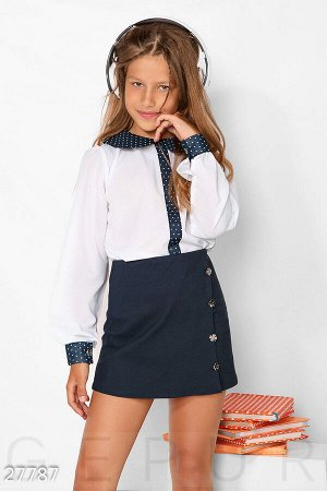 Контрастная детская блуза