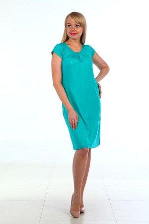 Д404 Платье Марго однотонное (Голуб.)