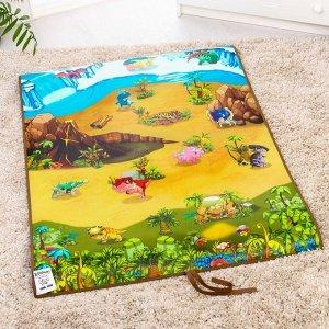 Игровой развивающий коврик «Динопарк 3D», 90х120см