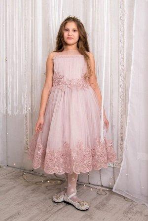 Платье нарядное с драпировкой 748-П