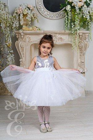 Платье нарядное белое 577-П