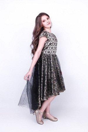 Платье нарядное жаккардовое 834-П