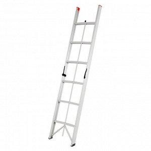 Лестница TUNDRA, 6 ступеней, 1.8 м, алюминиевая, складная
