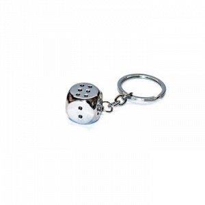 Брелок на ключи игральная кость метал
