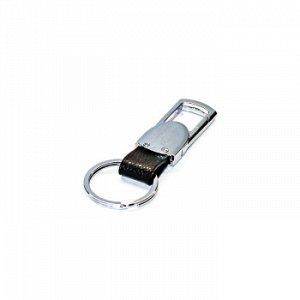 Брелок на ключи карабин с кожаным ремешком