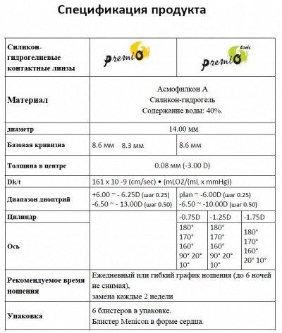 👁Контактные линзы производства Япония, Menicon — Общая информация о контактных линзах Premio