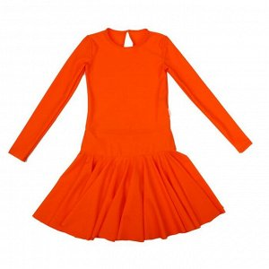 Платье спортивное для девочки, цвет оранжевый